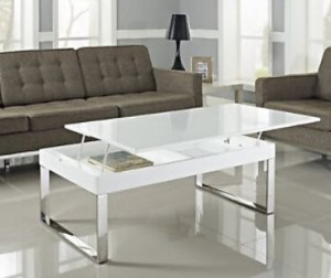 White Lift Top Coffee Tables for Different Lifestyles